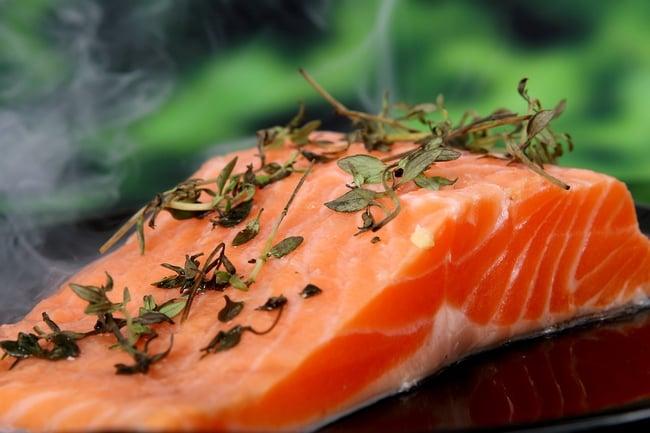 Losos, Vařená, Potraviny, Ryby, Bylinky, Vynikající