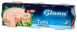 Giana tuňák kousky ve vlastní šťávě Pack