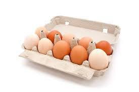 Čerstvá farmářská vejce z podestýlky L 10ks