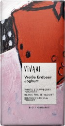 VIVANI EG bílá čokoláda s jogurtem a jahodami BIO