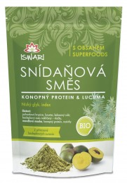 Iswari Snídaňová směs konopný protein & lucuma BIO