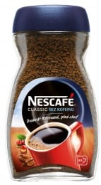 Nescafé CLASSIC bez kofeinu rozpustná káva