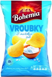 Bohemia Chips vroubkované s mořskou solí