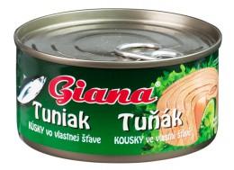 Giana Tuňák kousky ve vlastní šťávě