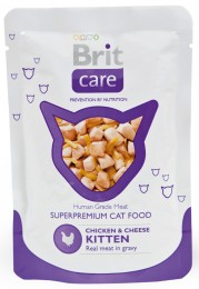 Brit Care Cat Chicken & Cheese kapsička pro koťata