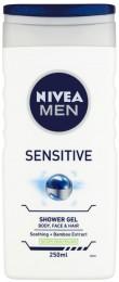 Nivea Men Sensitive sprchový gel na tělo, tvář a vlasy