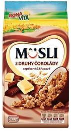 Bonavita Müsli 3 druhy čokoládové