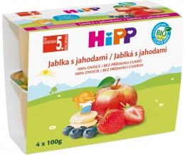HiPP Bio jablka s jahodami (4x100g)
