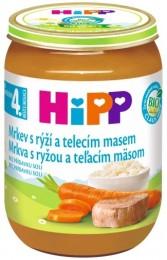 HiPP Bio mrkev s rýží a telecím masem