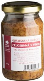 Ježkův statek Gurmánská hořčice celozrnná s vínem
