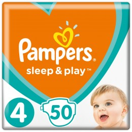 Pampers Sleep & Play dětské plenky 9–14 kg (Velikost 4) 50 ks