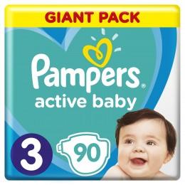 Pampers Active Baby dětské plenky (Velikost 3) 90 ks