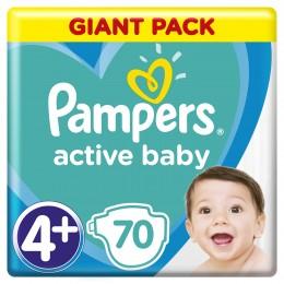 Pampers Active Baby-Dry dětské plenky MAXI+ (Velikost 4+) 70 ks
