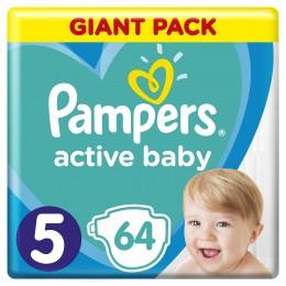 Pampers Active Baby-Dry dětské plenky Junior (Velikost 5) 64 ks