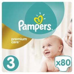 Pampers Premium Care dětské plenky Midi 5-9 kg (velikost 3) 80 ks