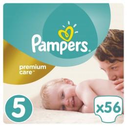 Pampers Premium Care dětské plenky Junior 11-18 kg (velikost 5) 56 ks