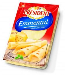 Président Emmental plátkový sýr