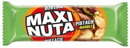 Maxi Nuta Tyčinka s pistáciemi, polomáčená v kakaové polevě