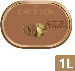 Carte d'Or zmrzlina lískové ořechy a čokoláda
