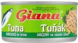 Giana Tuňák drcený ve vlastní šťávě