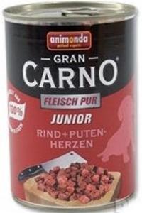 Animonda GranCarno Junior konzerva pro psy hovězí a krůtí srdce