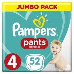 Pampers Pants plenkové kalhotky (velikost 4) 52 ks