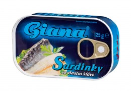 Giana Sardinky ve vlastní šťávě