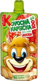 Kubík 100% ovocná kapsička Jahoda