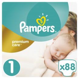 Pampers Premium Care dětské plenky Newborn 2-5 kg (velikost 1) 88 ks