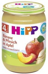 HiPP Bio Jablka s banány a broskvemi