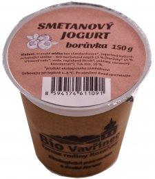 BioVavřinec Jogurt smetanový borůvkový