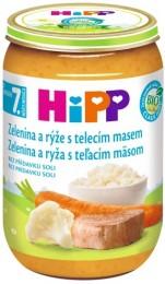 HiPP Bio Zelenina s rýží a telecím masem
