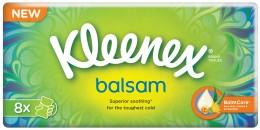 Kleenex Balsam papírové kapesníky 4vrstvé 8x9ks