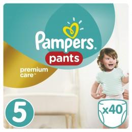 Pampers Premium Care Pants plenkové kalhotky 11-18 kg (velikost 5) 40 ks