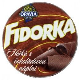 Opavia Fidorka s čokoládovou náplní v hořké čokoládě