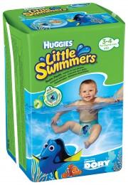 Huggies Little Swimmers 3/4 plenkové kalhotky na plavání 7-15kg (12ks)