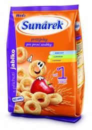 Sunárek dětský snack jablkové kroužky