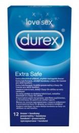 Durex Extra Safe extra lubrikované silnější kondomy 12ks