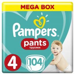 Pampers Pants plenkové kalhotky (velikost 4) 104 ks