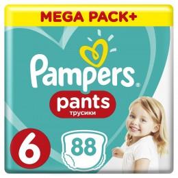 Pampers Pants plenkové kalhotky (velikost 6) 88 ks