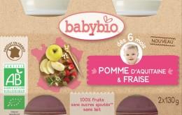 BABYBIO Jablko s jahodami