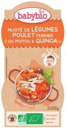 Babybio BIO Zelenina s kuřetem a quinoa