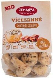 Zemanka BIO Vícezrnné sušenky s vločkami a čokoládou