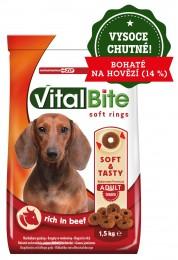 VitalBite poloměkké hovězí granule pro psy
