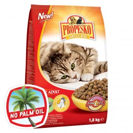 Propesko S kuřecím a přidanou zeleninou granule pro kočky