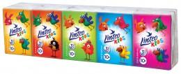 Linteo Kids papírové kapesníky s dětským motivem 3vrstvé 10x10ks