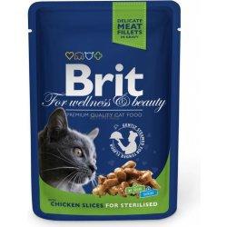 Brit Premium Cat Chicken Slices for Sterilised kapsička