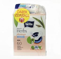 Bella Herbs Plantago Sensitive slipové vložky 60ks + dárek
