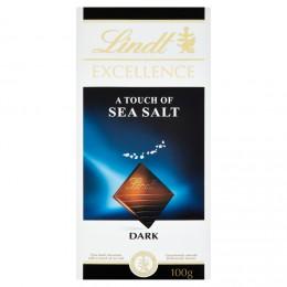 Lindt Excellence A Touch of Sea Salt hořká čokoláda