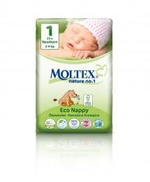 Moltex nature no. 1 Jednorázové dětské bio plenky Newborn 2-4kg (velikost 1) 23ks